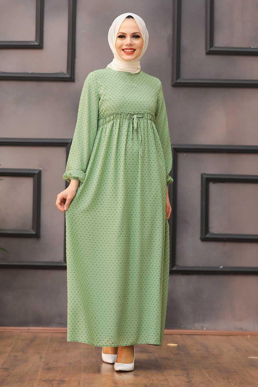 Almond Green Hijab 4341CY