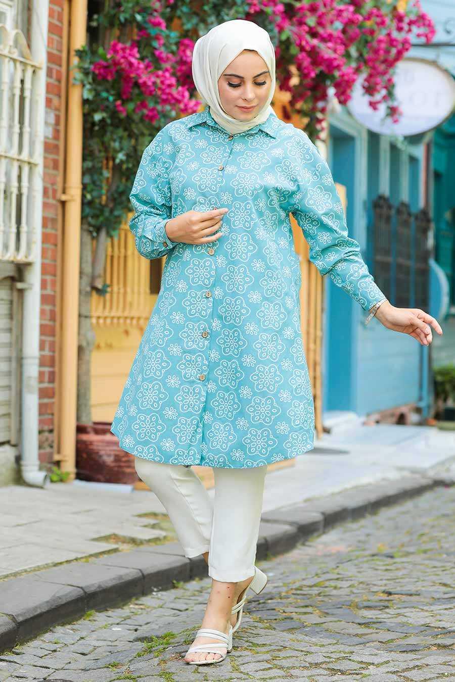 Almond Green Hijab Tunic 20350CY