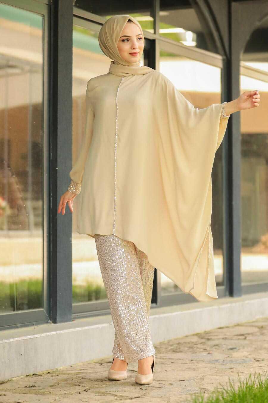Beige Dual Suit Dress 10830BEJ