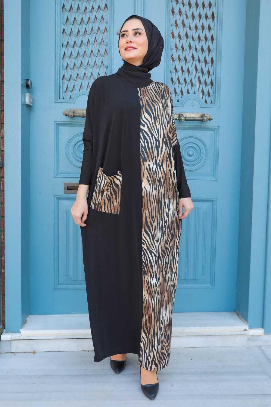 Beige Hijab Dress 14970BEJ