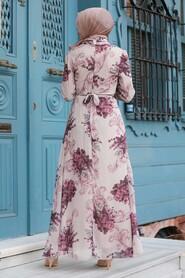 Beige Hijab Dress 27921BEJ - Thumbnail