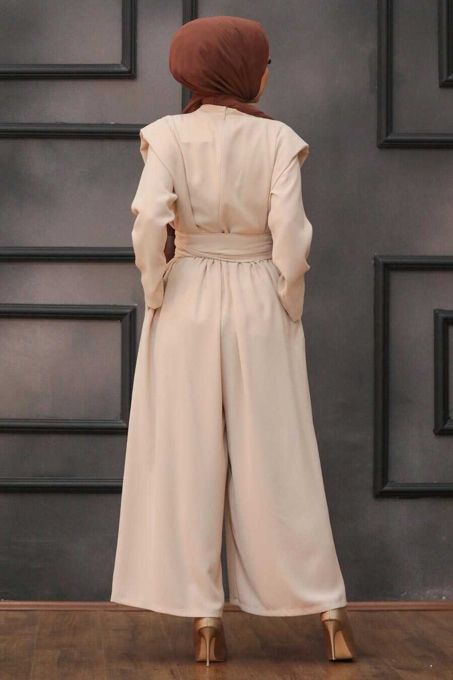 Beige Hijab Dual Suit Dress 1471BEJ