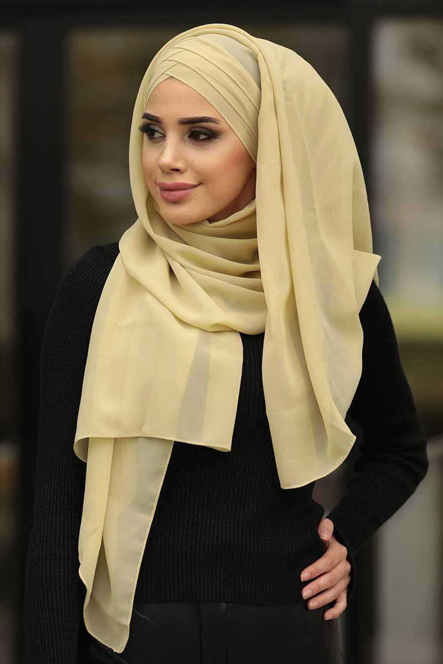 Beige Hijab Shawl 7522BEJ