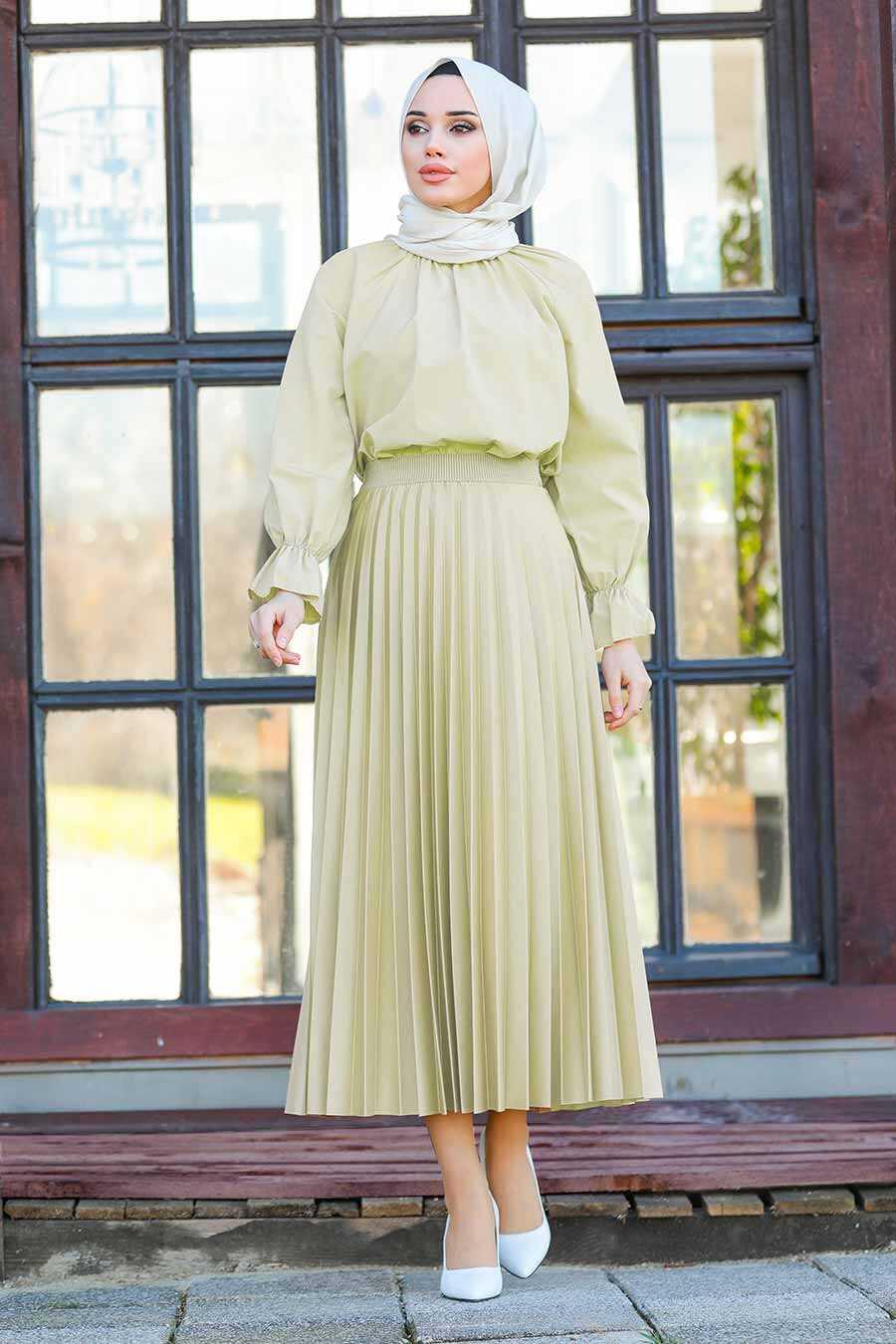 Beige Hijab Skirt 20511BEJ