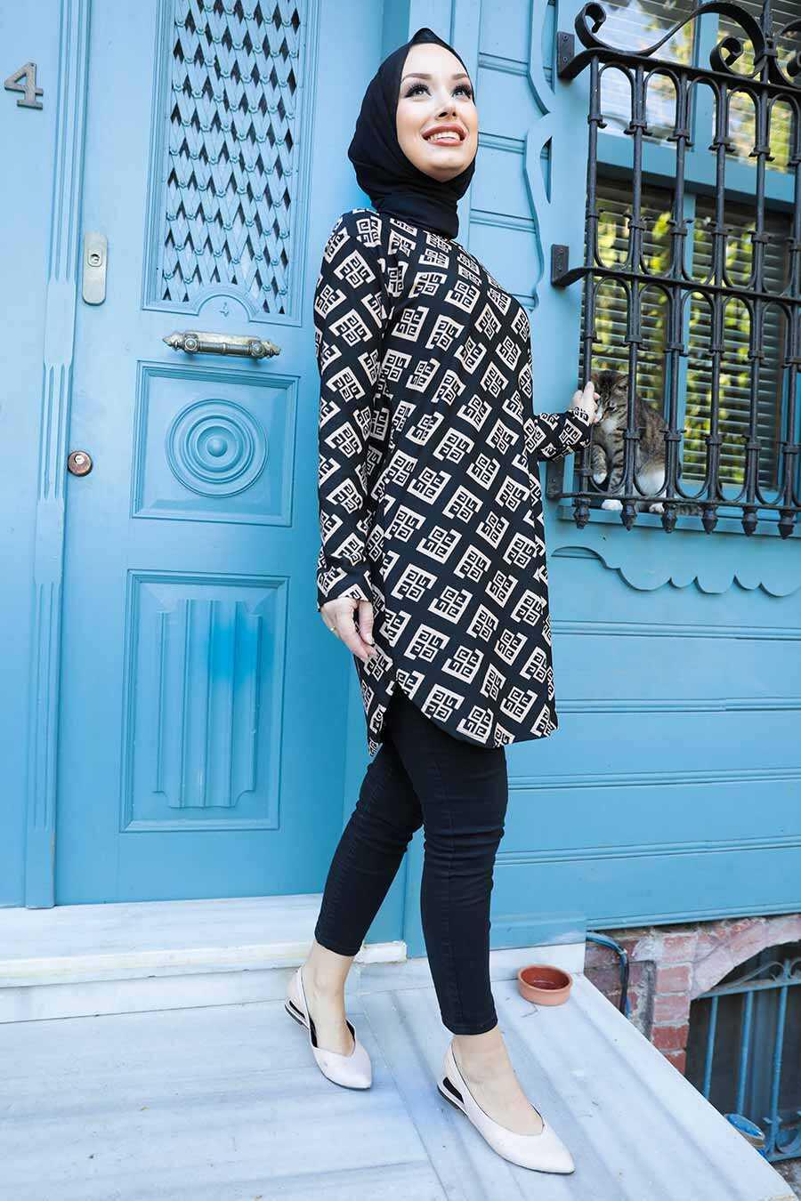 Beige Hijab Tunic 358121BEJ