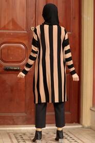 Beige Knitwear Hijab Tunic 33210BEJ - Thumbnail