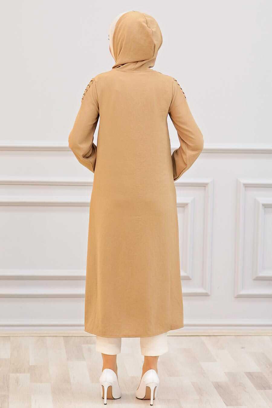 Biscuit Hijab Coat 15630BS