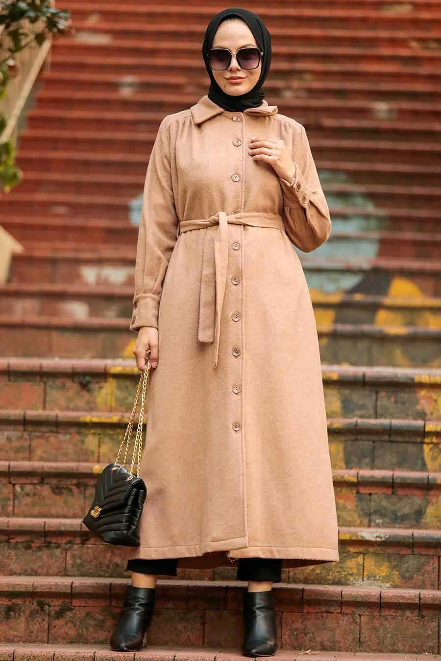 Biscuit Hijab Coat 4554BS