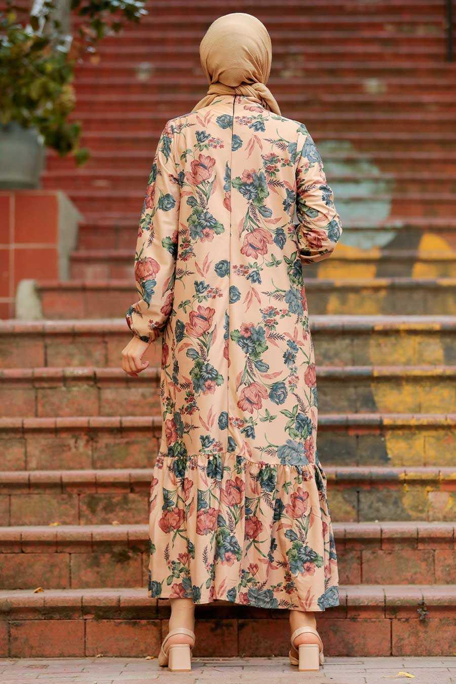 Biscuit Hijab Dress 11852BS