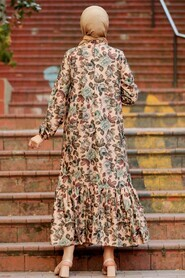 Biscuit Hijab Dress 1185BS - Thumbnail