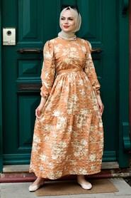 Biscuit Hijab Dress 7673BS - Thumbnail