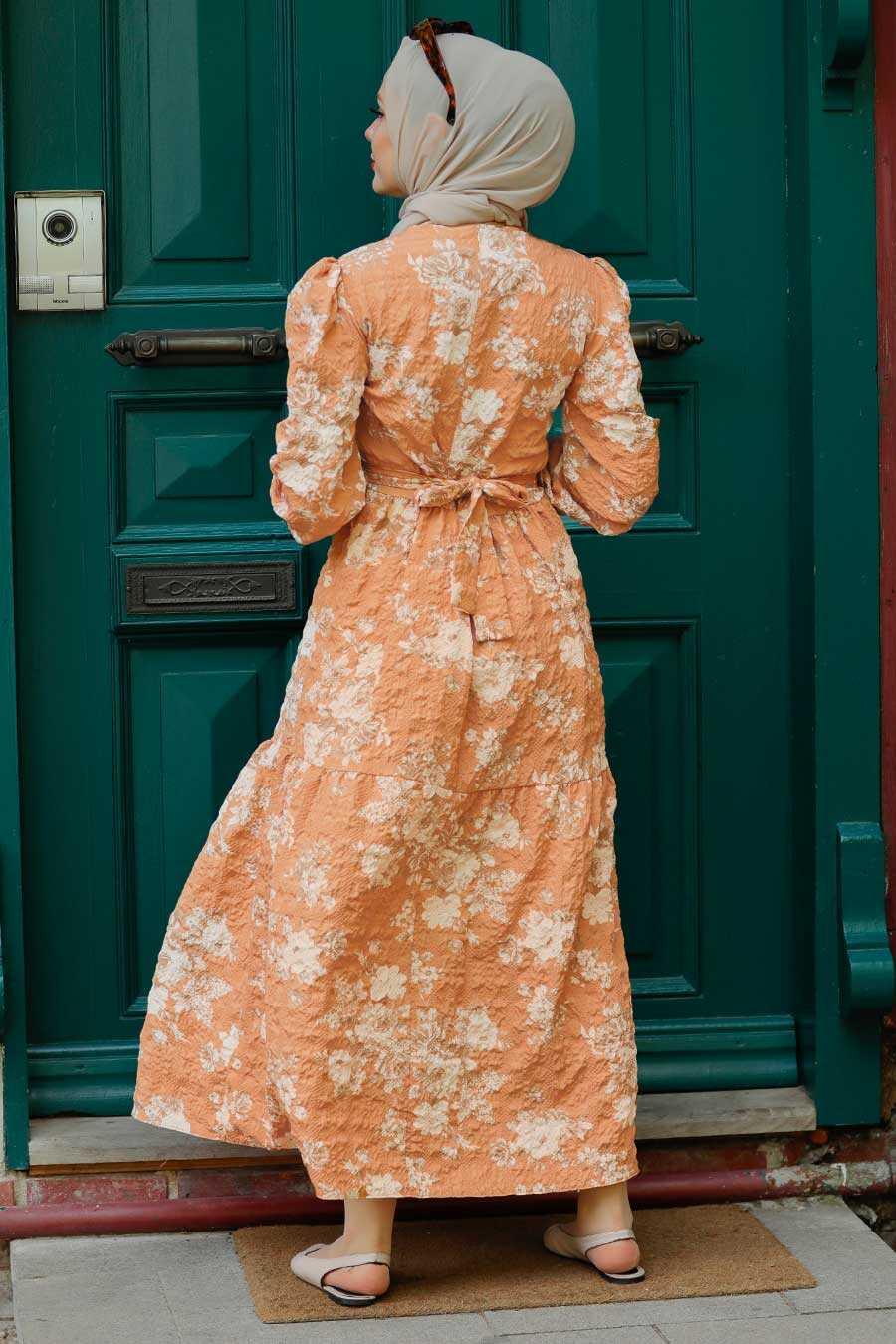 Biscuit Hijab Dress 7673BS