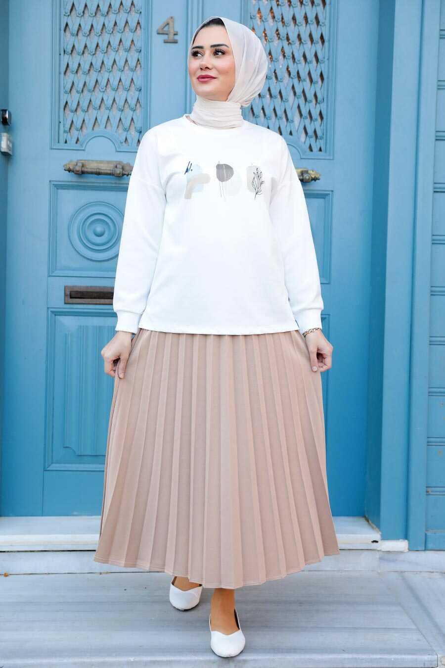 Biscuit Hijab Dual Suit Dress 1748BS