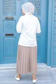 Biscuit Hijab Dual Suit Dress 1748BS - Thumbnail