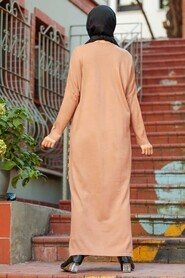 Biscuit Hijab Knitwear Dress 30503BS - Thumbnail
