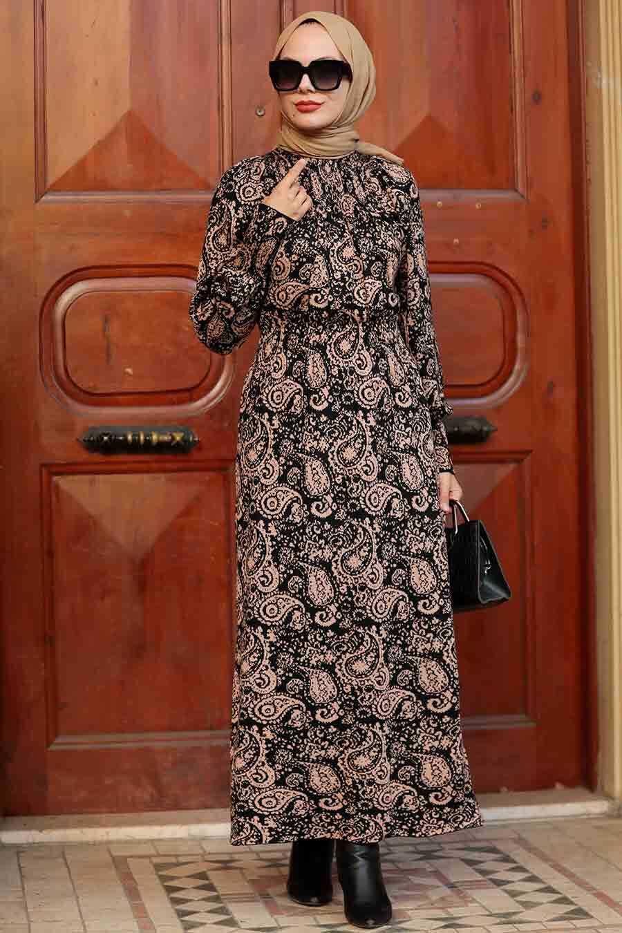 Biscuit Hijab Knitwear Dress 52311BS