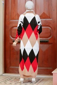 Biscuit Hijab Knitwear Suit Dress 3181BS - Thumbnail