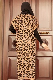 Biscuit Hijab Knitwear Suit Dress 3192BS - Thumbnail