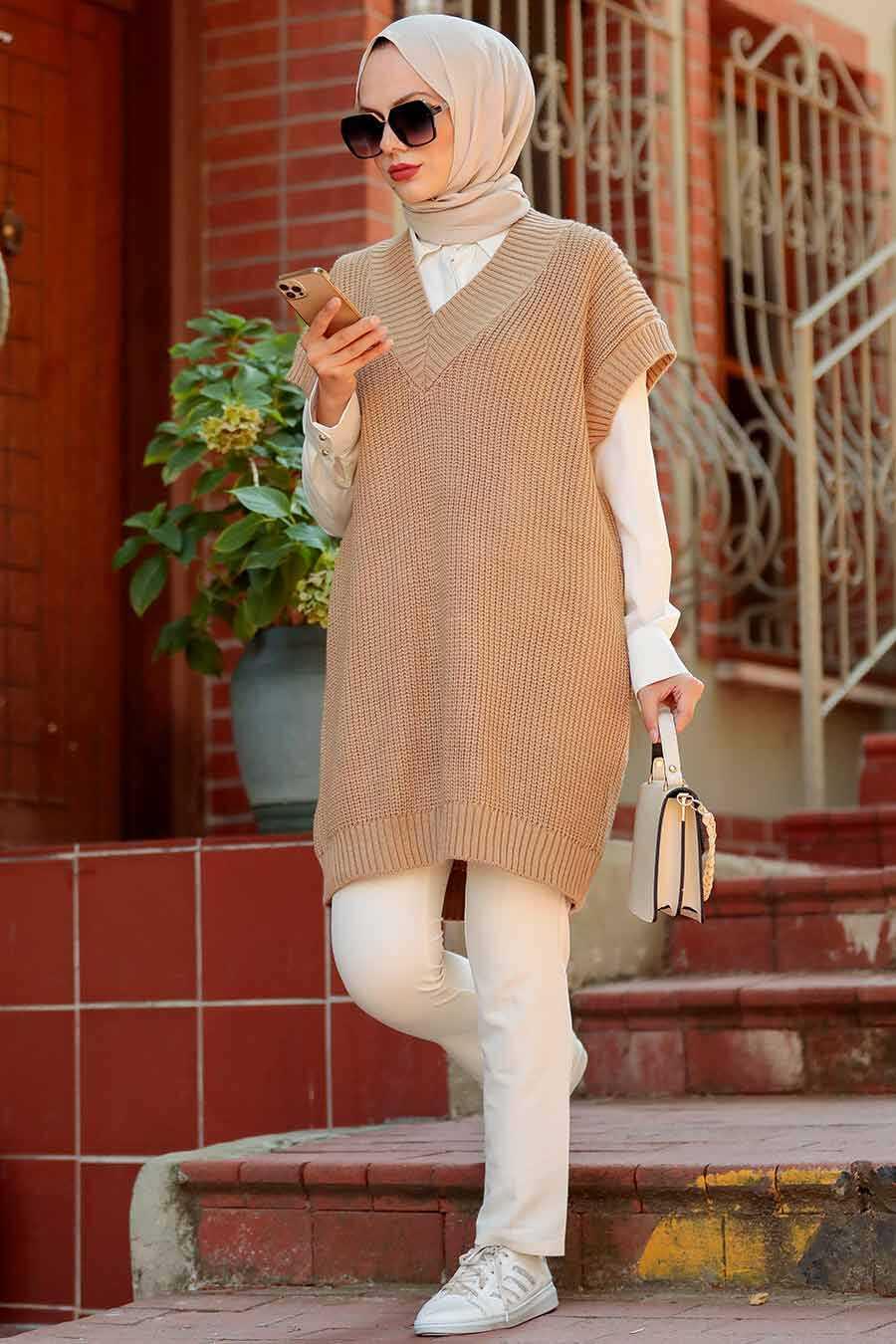 Biscuit Hijab Knitwear Sweater 7836BS