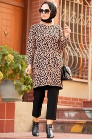 Biscuit Hijab Knitwear Tunic 3085BS - Thumbnail