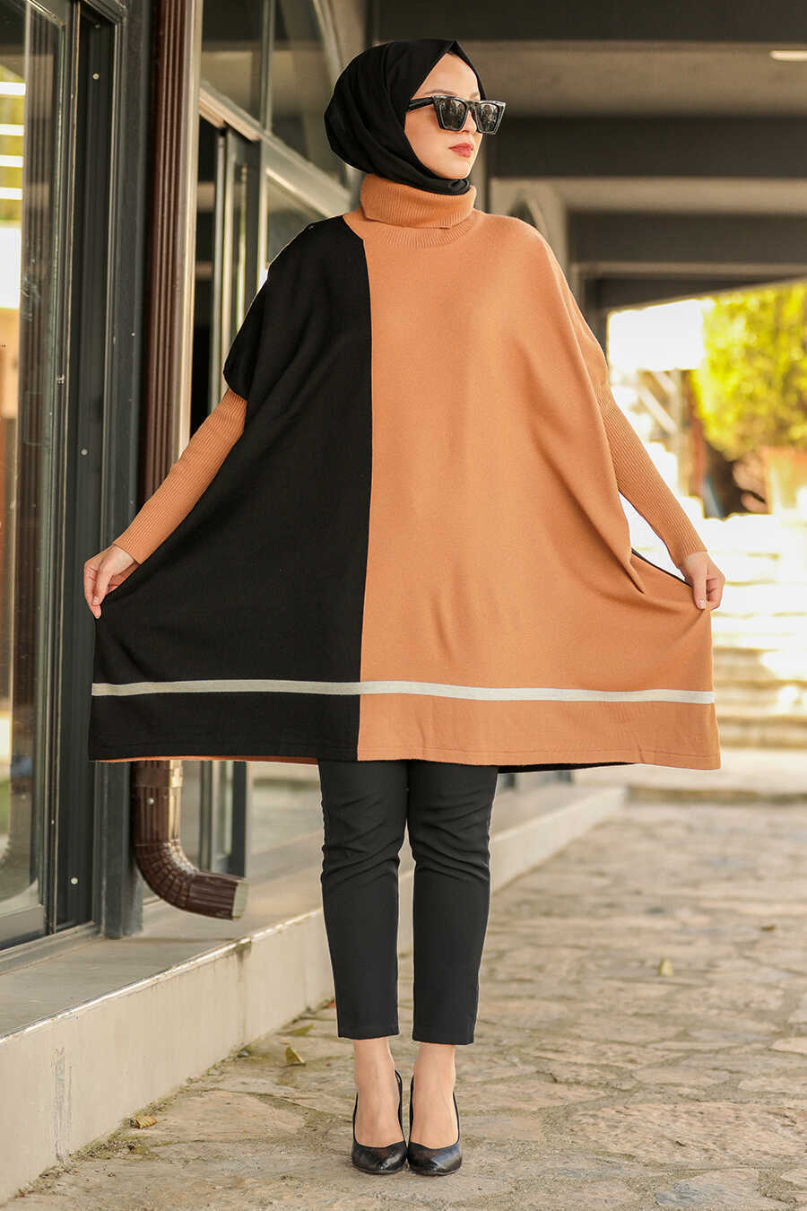 Biscuit Hijab Poncho 2339BS