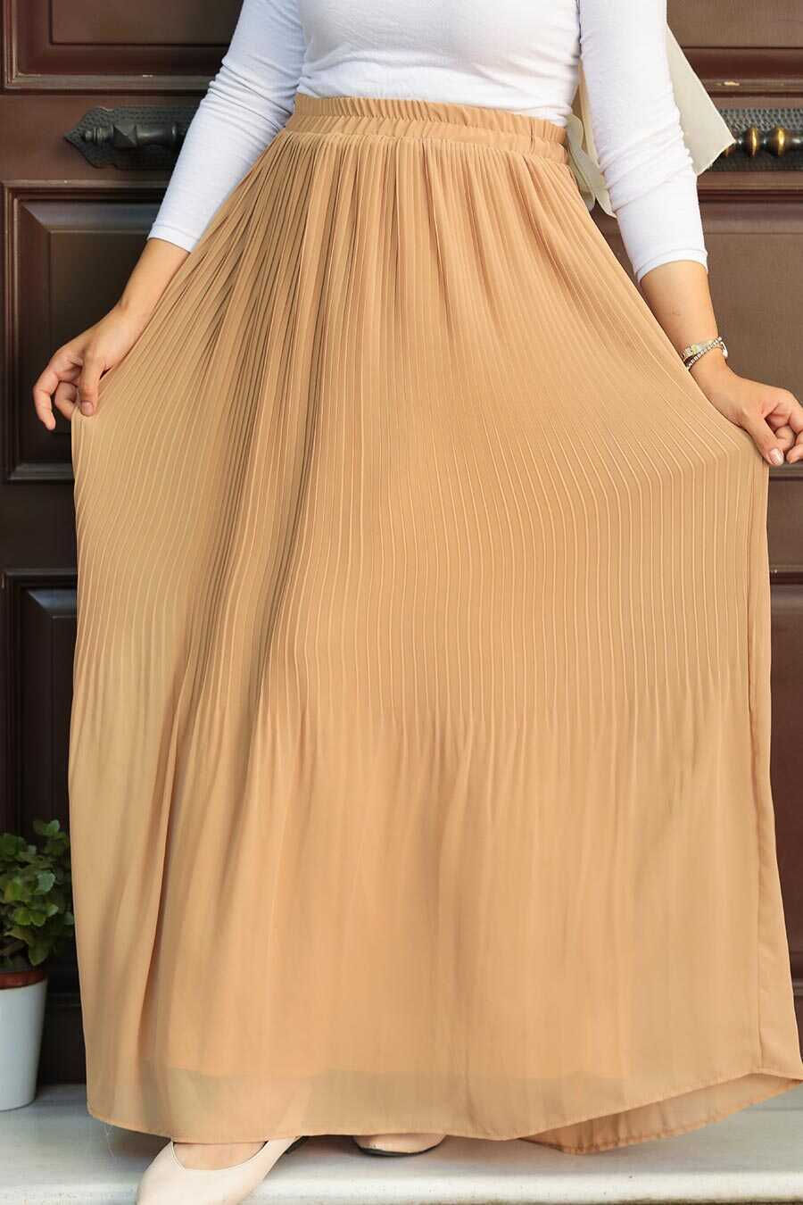 Biscuit Hijab Skirt 32140BS