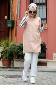 Biscuit Hijab Sweatshirt & Tunic 4212BS - Thumbnail