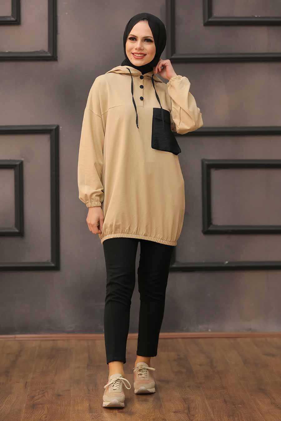 Biscuit Hijab Sweatshirt & Tunic 6328BS