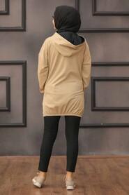 Biscuit Hijab Sweatshirt & Tunic 6328BS - Thumbnail