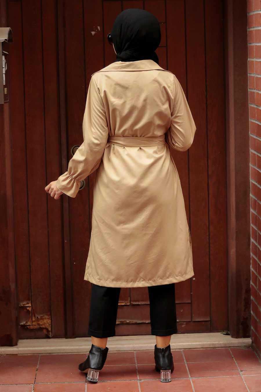 Biscuit Hijab Trenchcoat 5836BS