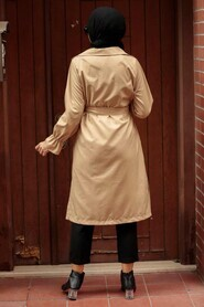 Biscuit Hijab Trenchcoat 5836BS - Thumbnail
