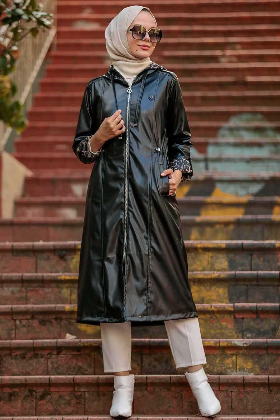 Black Hijab Coat 12050S