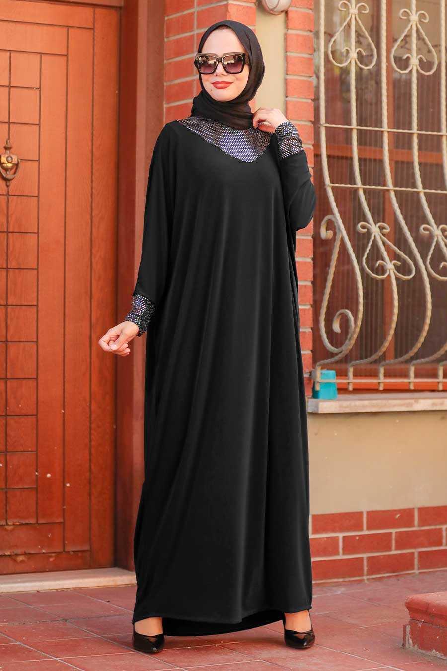 Black Hijab Dress 10560S