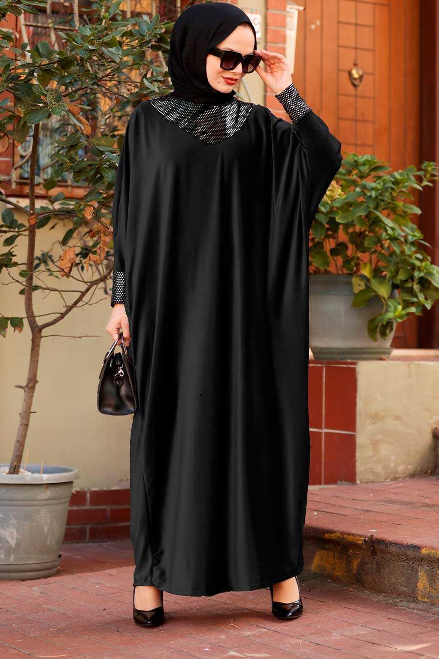 Black Hijab Dress 10561S