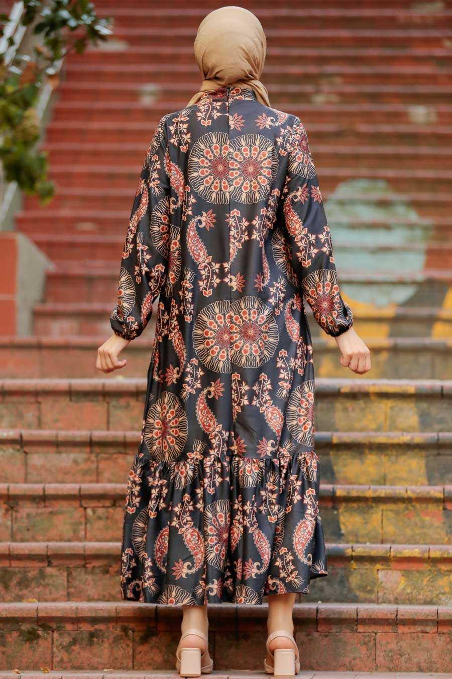 Black Hijab Dress 11851S