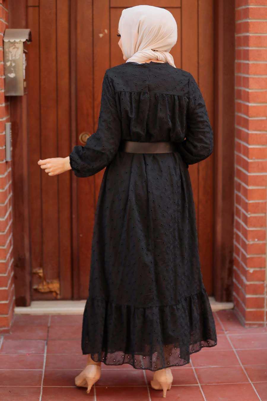 Black Hijab Dress 1755S