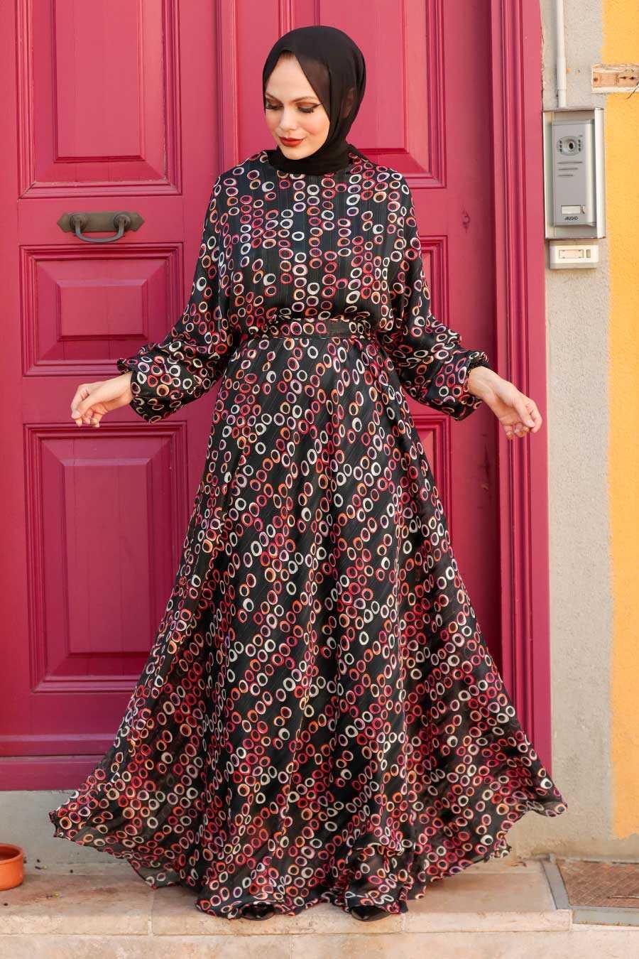 Black Hijab Dress 22164S