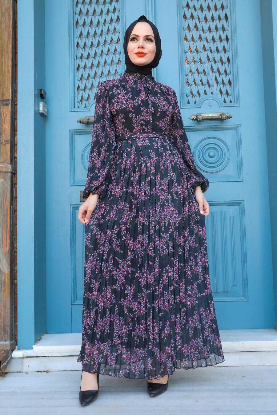 Black Hijab Dress 27890S