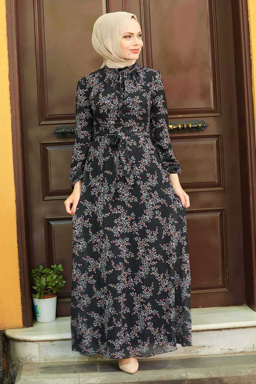 Black Hijab Dress 279011S