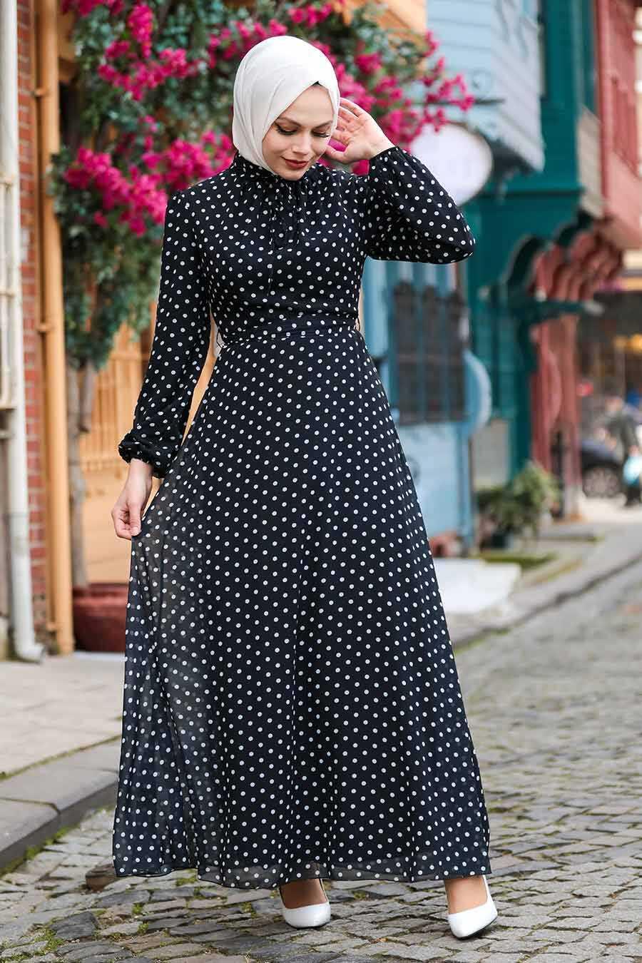 Black Hijab Dress 27909S