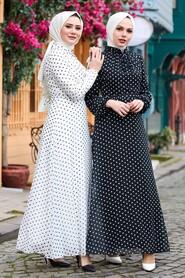 Black Hijab Dress 27909S - Thumbnail