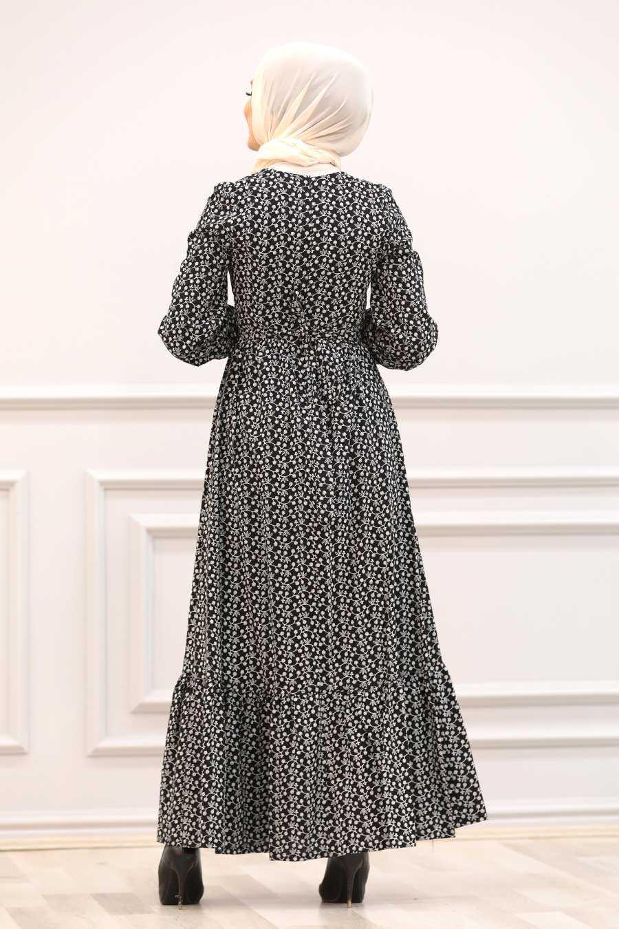 Black Hijab Dress 28480S