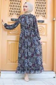 Black Hijab Dress 2898S - Thumbnail