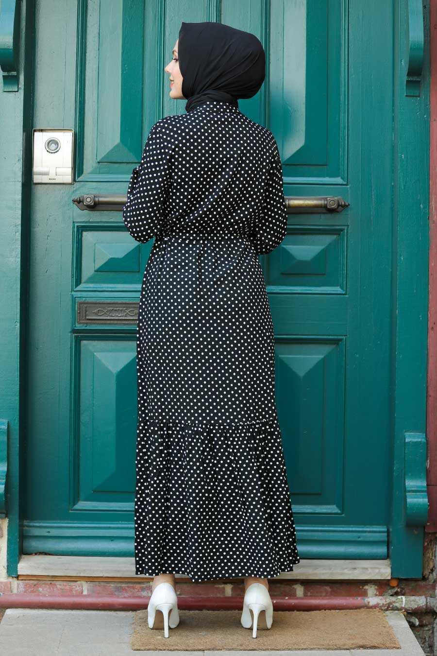 Black Hijab Dress 3736S