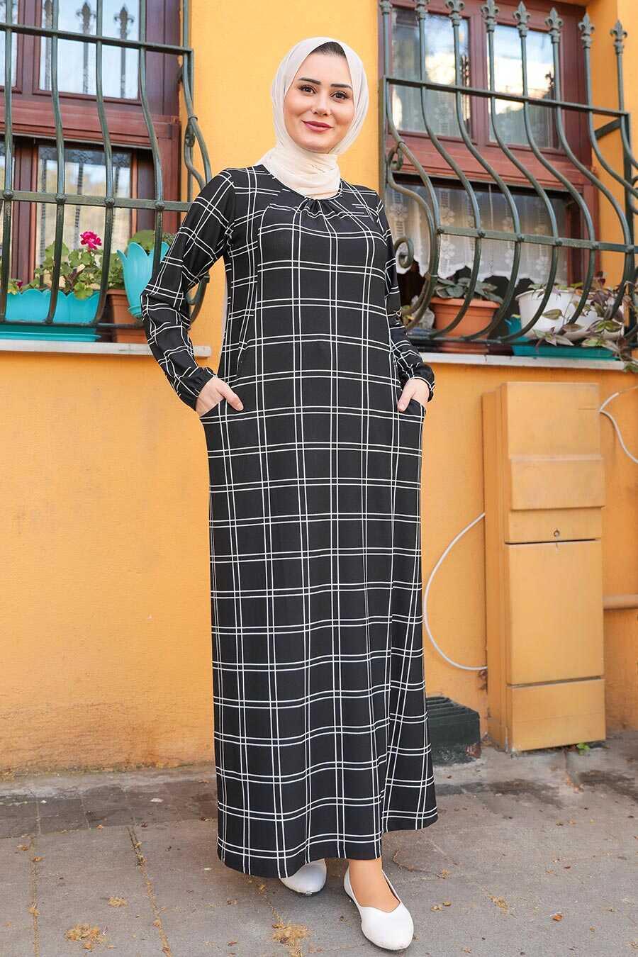 Black Hijab Dress 65812S