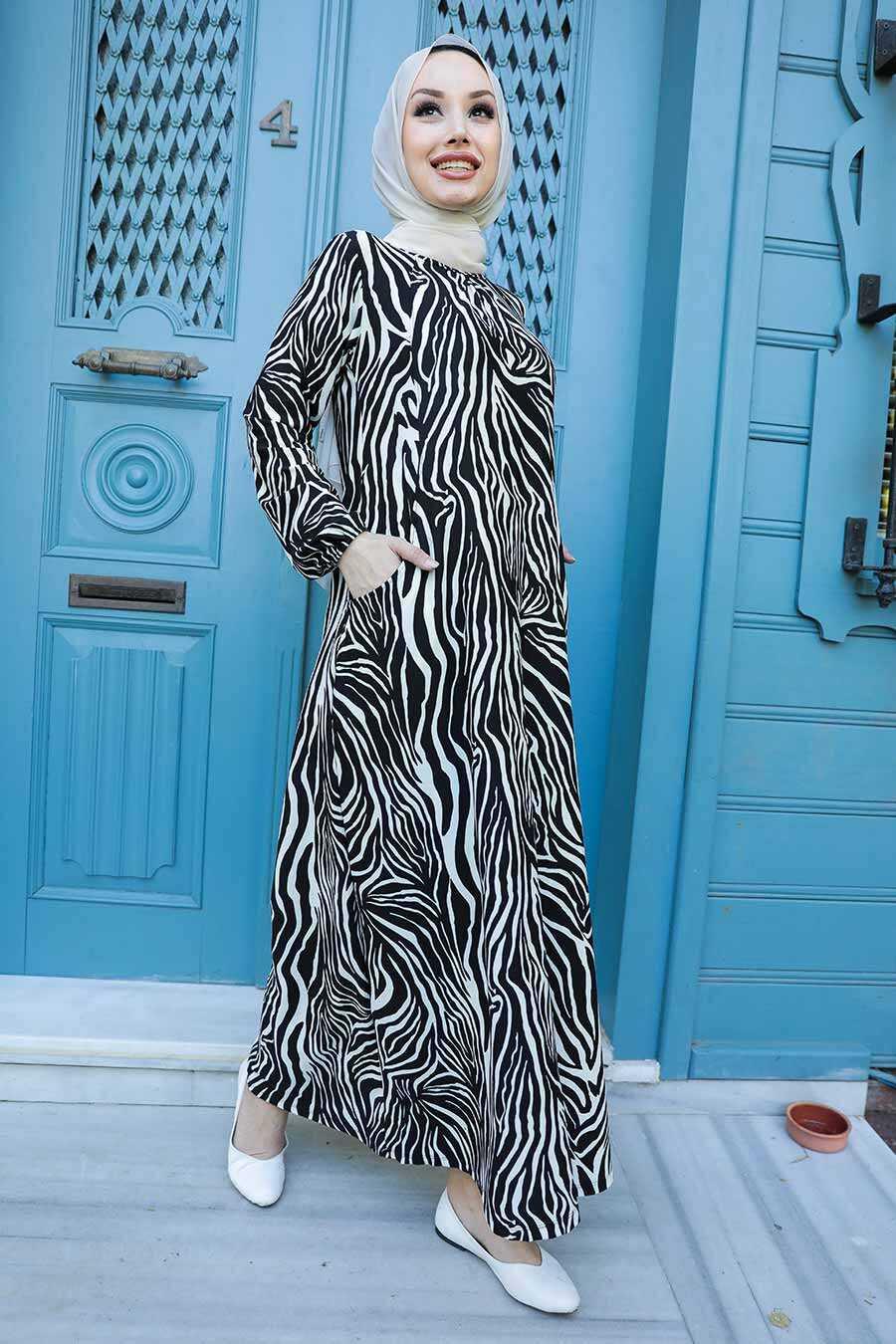 Black Hijab Dress 66815S