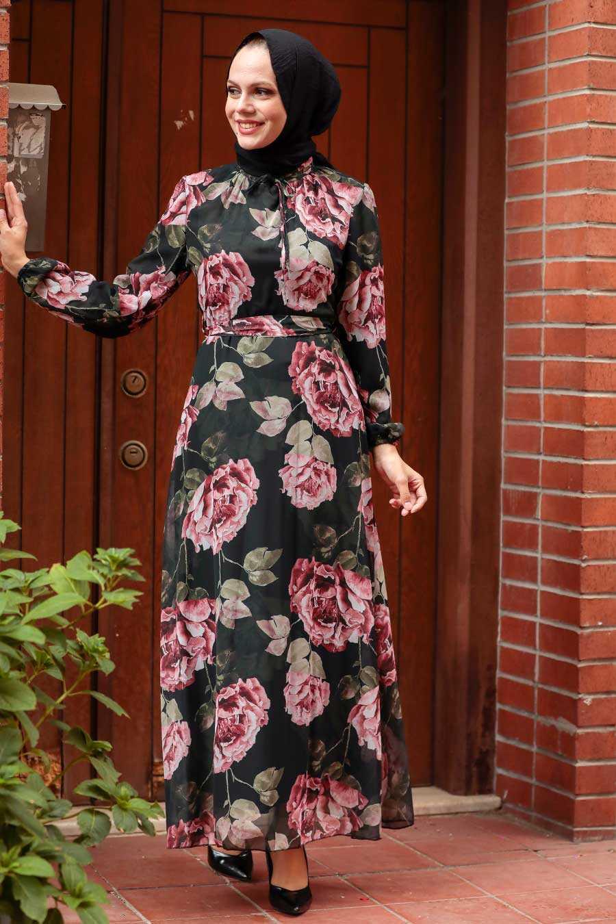 Black Hijab Dress 71020S