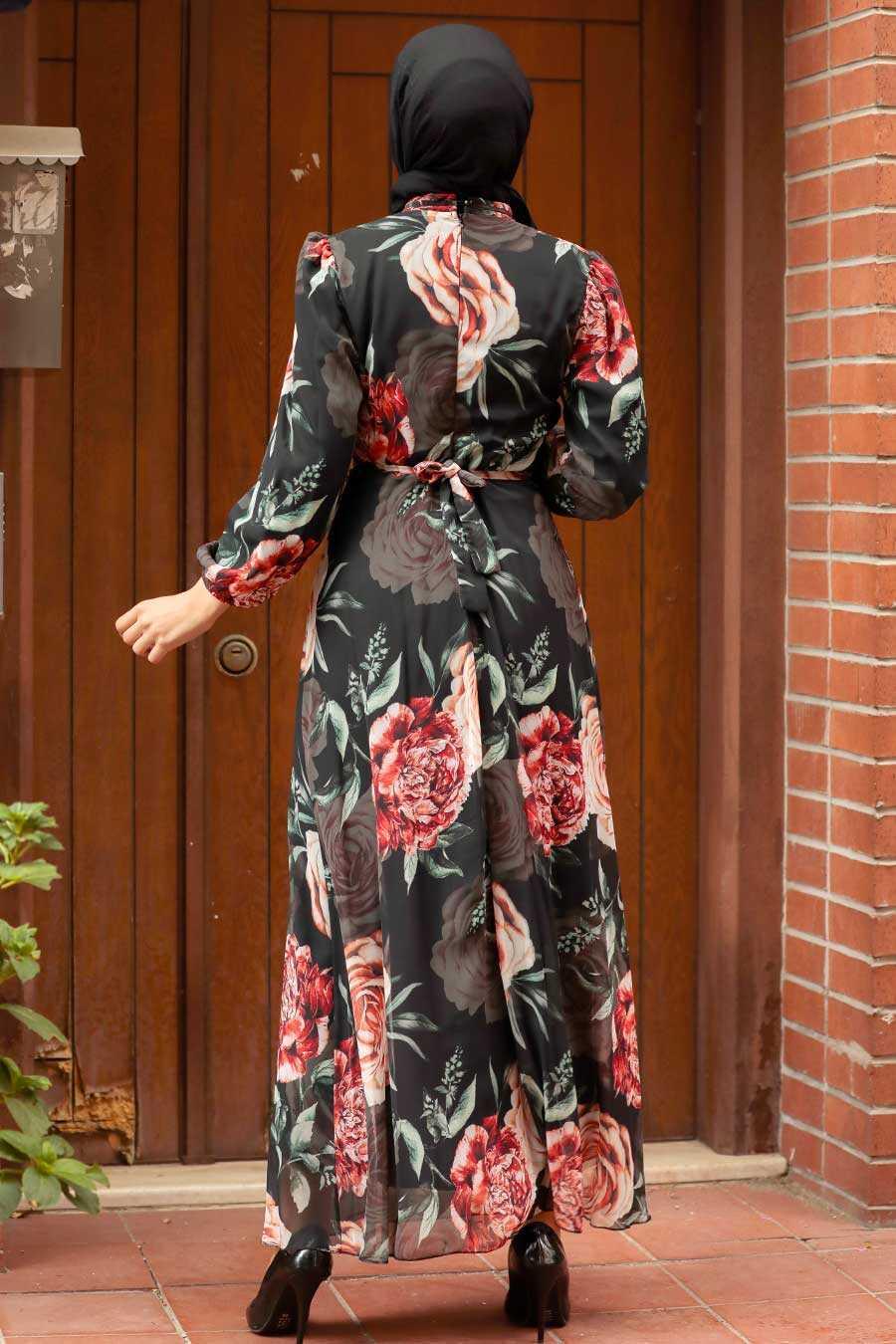 Black Hijab Dress 7102S