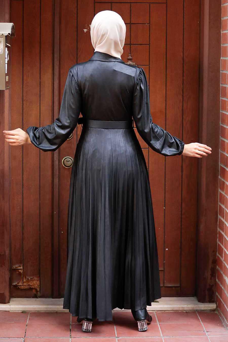 Black Hijab Dress 7630S