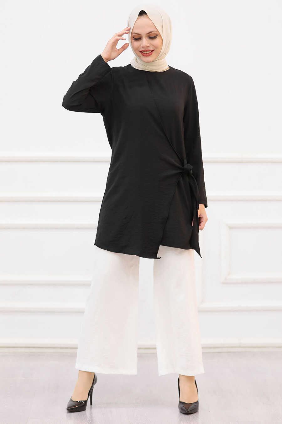 Black Hijab Dual Suit 3039S